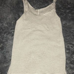 old navy fitted striped tank top